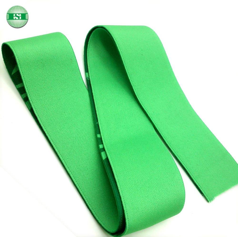 Personalized design green stretchable elastic waistband for jogging pants