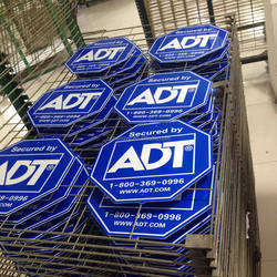 American plastic reflective ADT security yard sign
