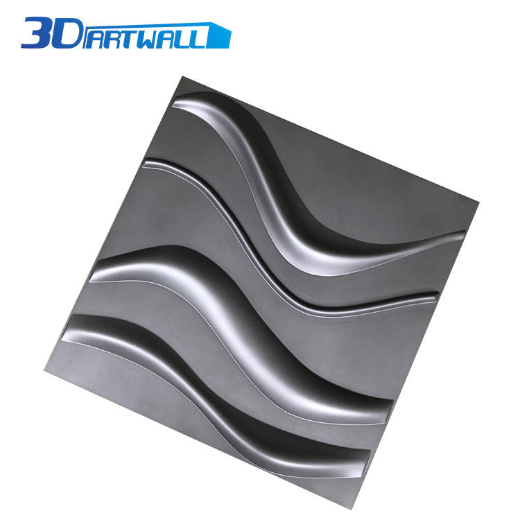 high quality luxury plastic PVC 3d wall panel FOR living room