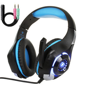 Headset Gaming Stereo Getaran Disko, Headphone untuk Ps4