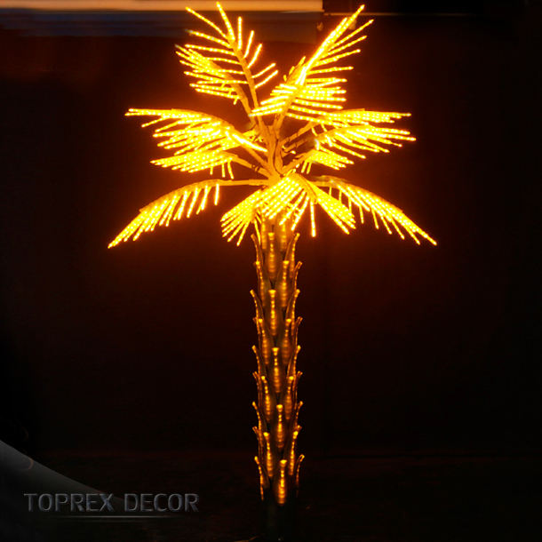 Toprex Decor wholesale 3m LED outdoor lighted artificial palm tree