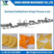 Fully Automatic Fried Extruded Type Double Screw Extruder Corn Tortilla Chips Snacks Making Machine