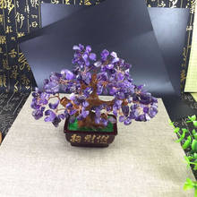 Natural Colorful Crystal Tree Feng Shui Ornaments Wholesale