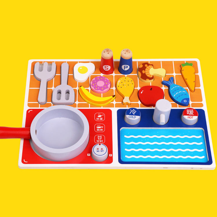 Wooden Cooking Set Pretend Toddler Play Set Kitchen Set Toys Wooden pretend kitchen play toys