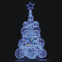 led lighted sphere christmas tree for outdoor and indoor decoration