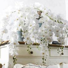 white colour butterfly orchid artificial flower for wedding and home decoration