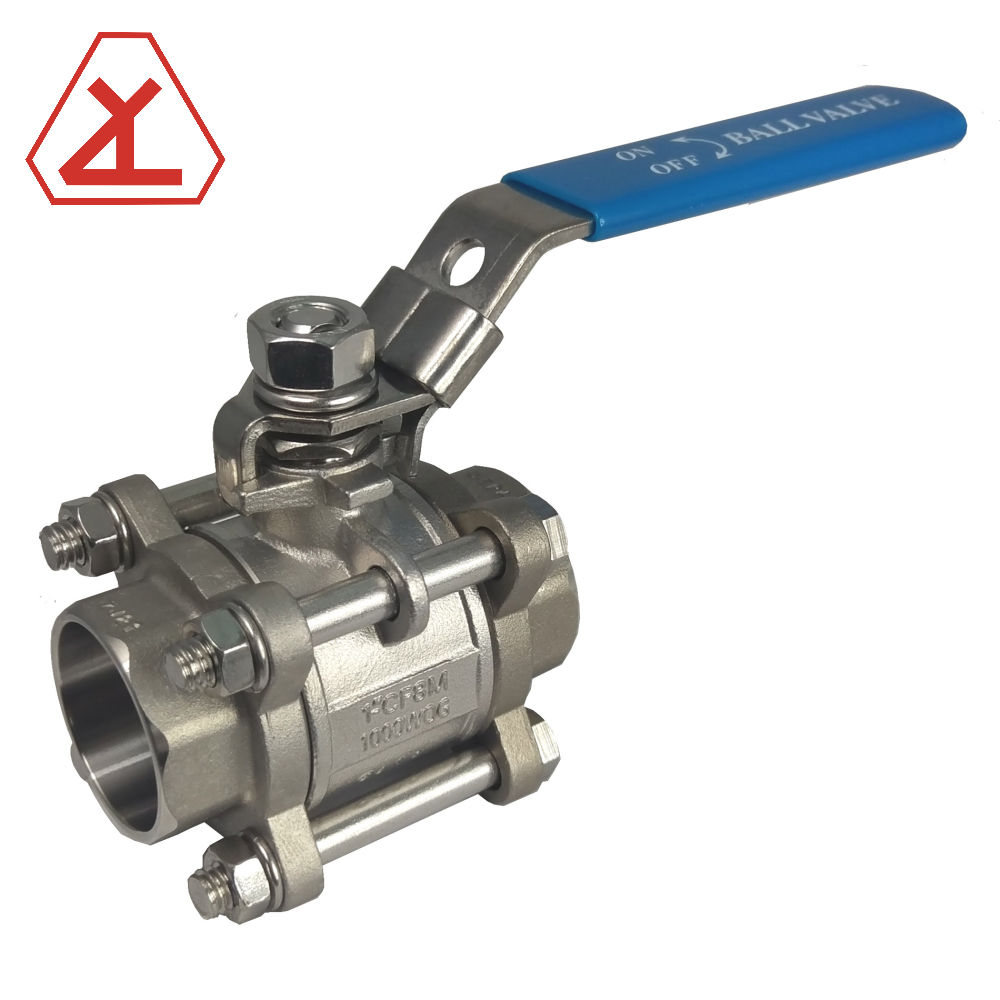3 PIECE PORT PENUH 1000PSI SOCKET WELD END BALL VALVE