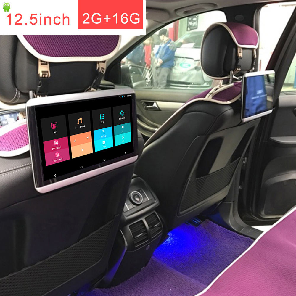 Universal 12. 5 inch IPS lcd car headrest monitor android 10.0 headrest monitor AV in