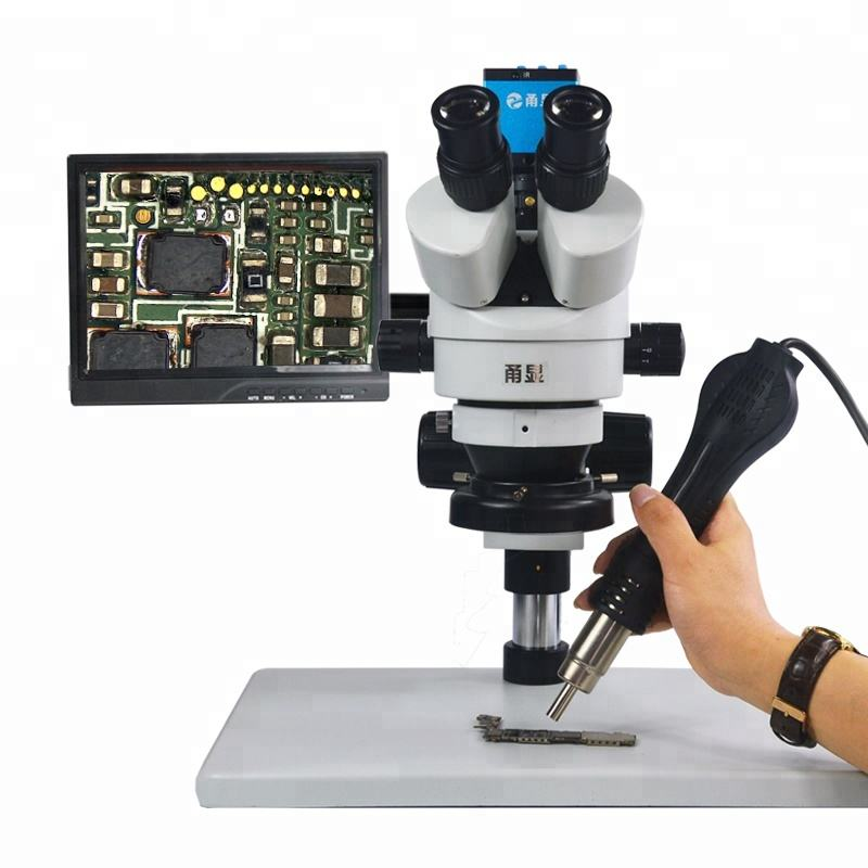 "16MP HDMI Digital Camera Trinocular Stereo Microscope with 10"" Monitor for Mobile Repair"
