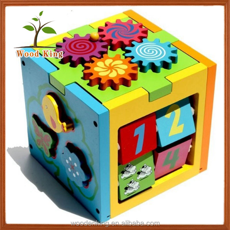 New Wooden Children Early Enlightenment Educational Building Blocks Intelligence Toy Kids Toy Box