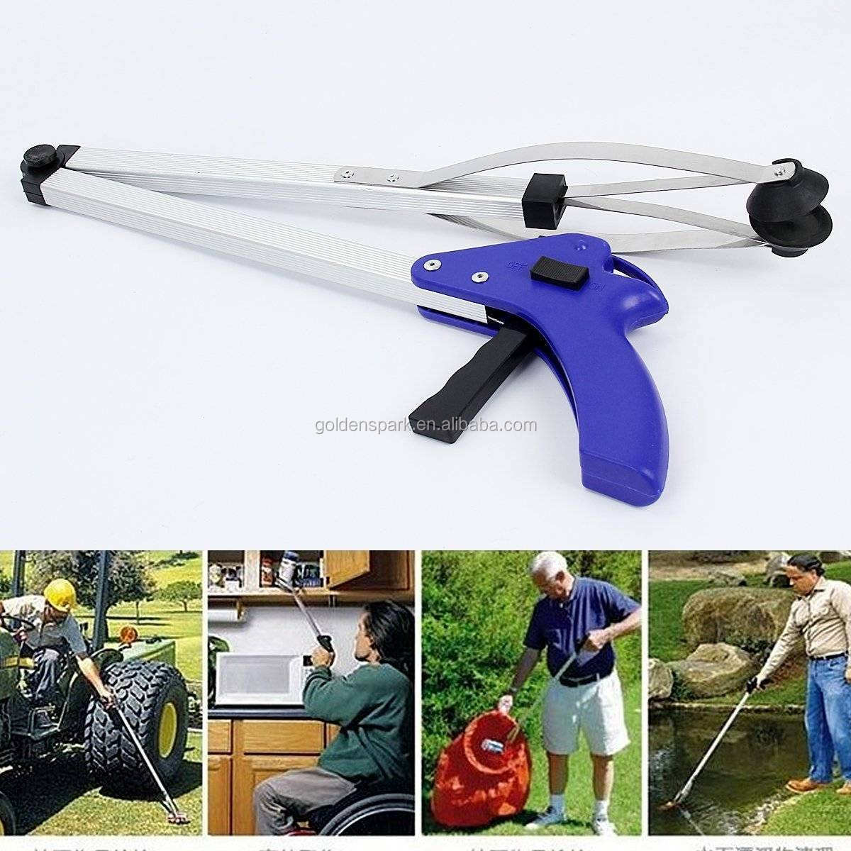 Rubber Grip Trash Pick Up Disabled Garden Long Reach Arm Extension Grabber Tool