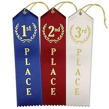 1st - 2nd -3rd place premium award ribbons