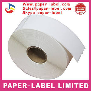 Permanent adhesive compatiable thermal paper Dymo 30252 label
