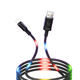 Voice Control Charging Cord for Android Cell Phone Adapter LED USB Data Charger Cable Light-up LED