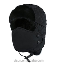 Hunting Cap Ushanka Russian Ear Flap Chin Strap Outdoor Winter Trooper Trapper Hat with Windproof Mask Unisex