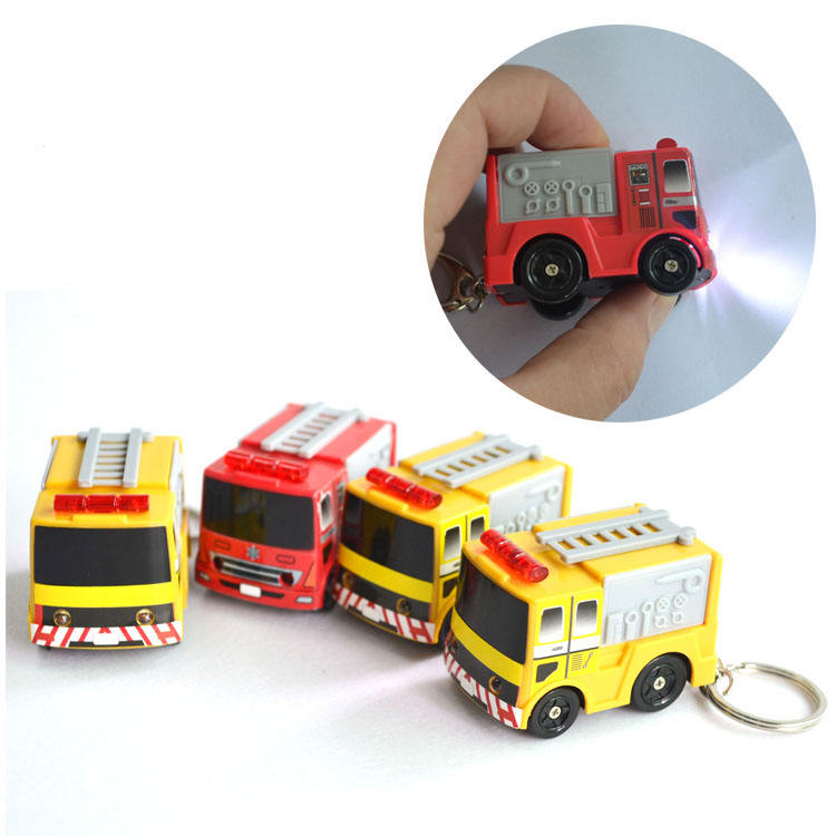 Plastic Fire Fighting Keychain with Led Light and Sound