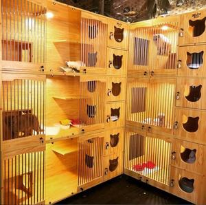 Luxury solid wood villa pet display cage pet breeding cage