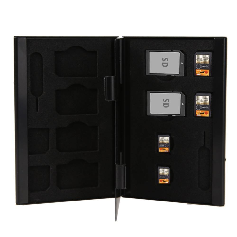 14 in 1 High Quality Aluminum SIM Micro SIM Memory Cards Pin Storage Box Case Holder Protector For Micro Memory SD Card