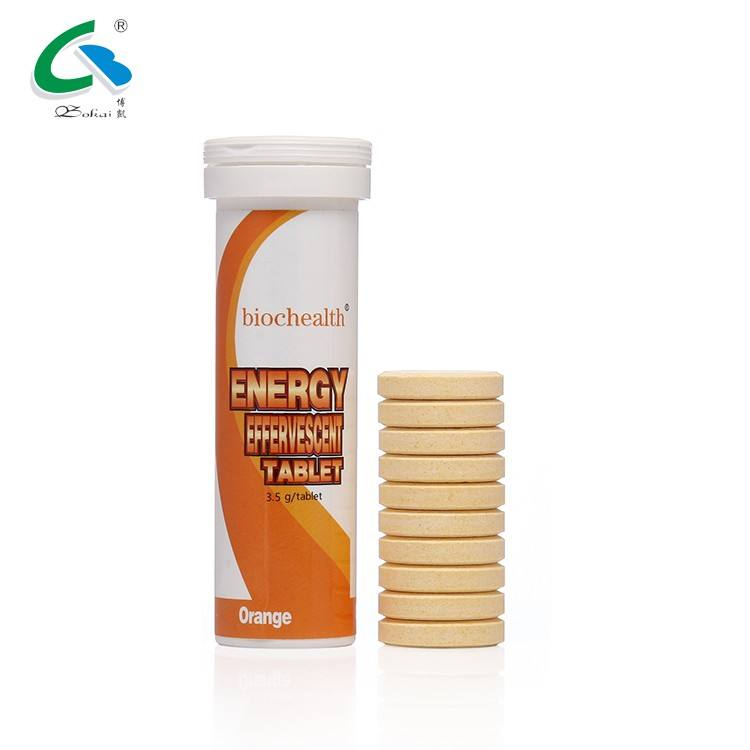 OEM Sports Nutrition Energy Drink Guarana Caffeine Effervescent Tablet Sport Drink Electrolyte Powder/Tablet
