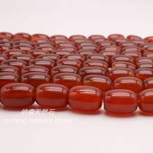 Manufacture wholesalers Exporters 8x12mm 10x14mm Red Agate Barrel Drum strand Beads with discount