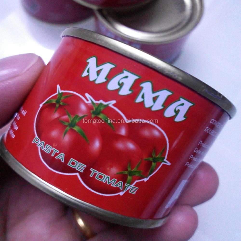 Ghana market special supplied 70g*50tins easy open tin tomato paste