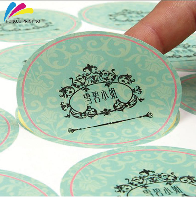 Aangepaste China professionele fabrikant custom printing transparante label sticker Labels in Roll