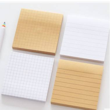 Gevoerd Memo Pad Kraft Sticky Notes