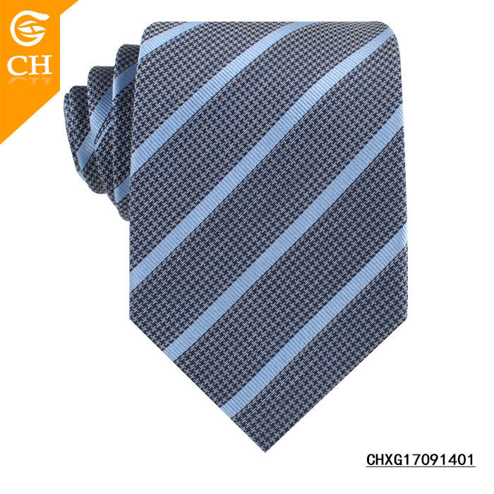 Custom Men Neckwear High Quality Brand Name Stripes Silk Woven Neckties Dropship