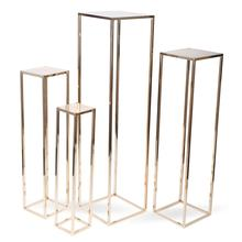 Rose Gold 100cm Tall Flat Pack Wedding Table Decorations Tall Metal Centerpiece Stands