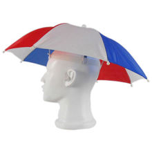 Promotional umbrella hat small Custom umbrella hat head umbrella hat