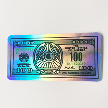 Custom Logo Die Cut Waterproof Metallic Effect Holographic Hologram Sticker