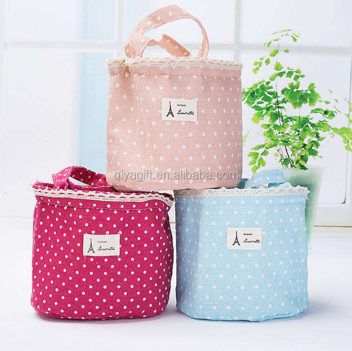 Wholesale travel makeup bags custom cotton cosmetic bag for women