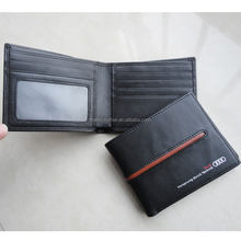 Fashion horizontal style men real leather wallet