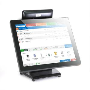 Neue 17 Zoll Touch Pos windows 10 OS mit QR code Reader + 8 Zoll 2nd Lcd display