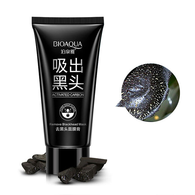 bioaqua Blackhead Deep cleansing Purifying Peel Acne Pimples Remover Black Mud Mask