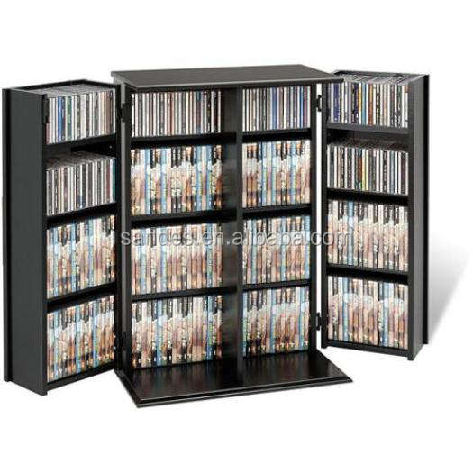 Cheap Acrylic Plastic Black CD Cabinet