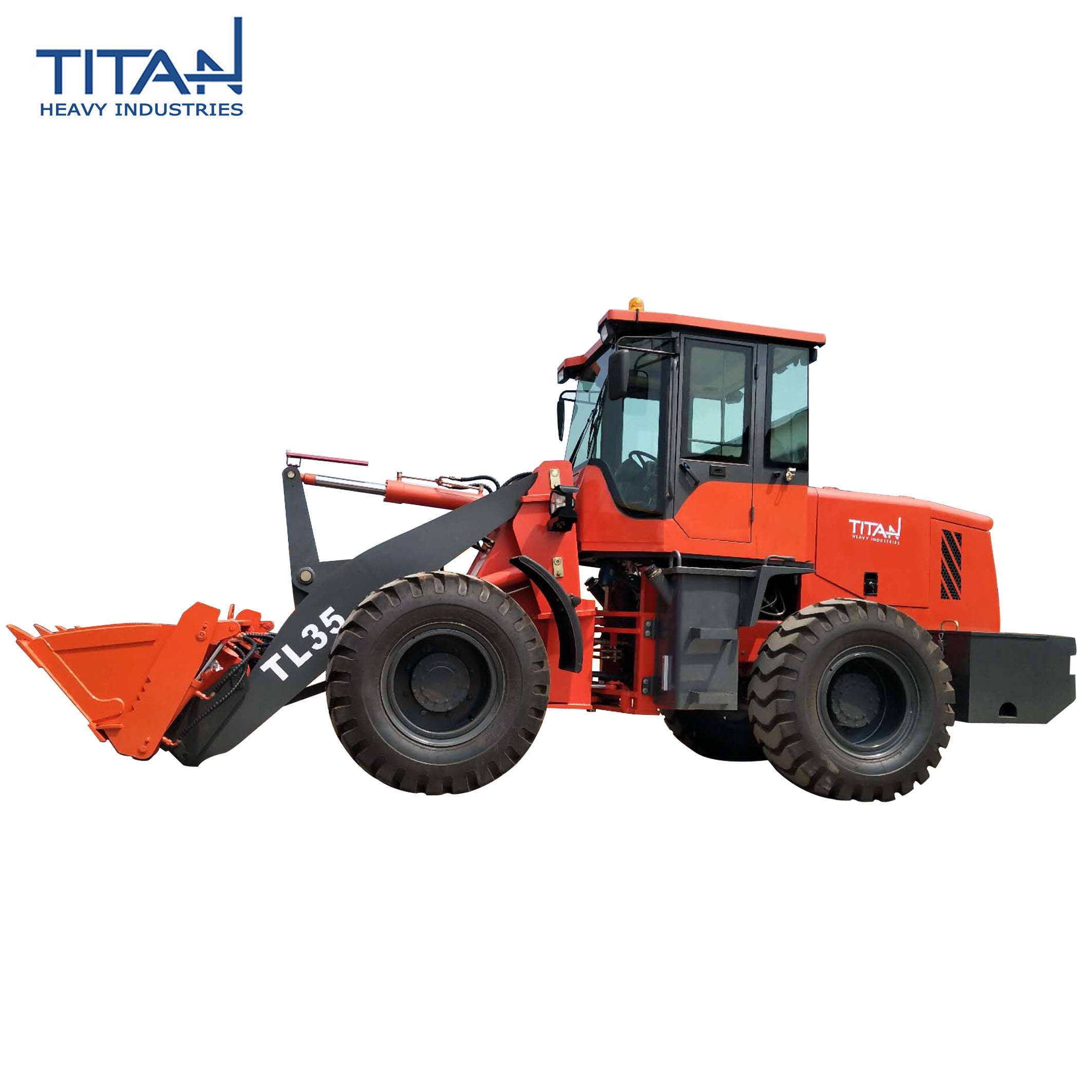 4 wheel drive truck tractor China Manufacturer Titan Brand Zl35f Front Wheel log clamp mini garden whell loader for Sale