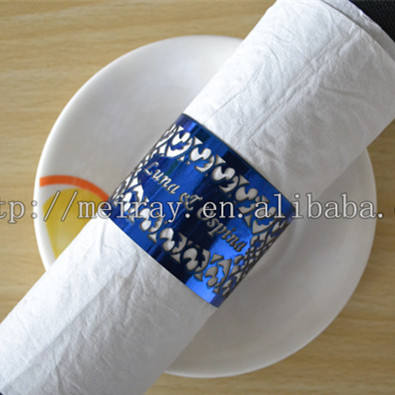 Custom name wedding napkin rings paper wedding centerpieces for tables decoration