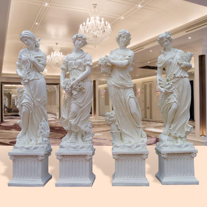 Fabricants En Gros Extérieurs pour La Maison Jardin Vie <span class=keywords><strong>Taille</strong></span> Angell En Fiber De Verre <span class=keywords><strong>Déesse</strong></span> quatre Saisons Statue