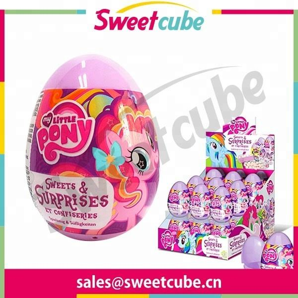 hotsale Pony capsule big candy toy printed toy inside surprise egg capsule toy inside