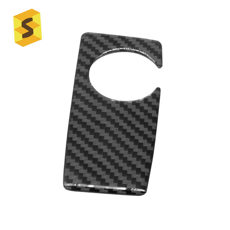 <span class=keywords><strong>ES</strong></span> DJ5016 Carbon fiber Gear Handvat Down sticker voor BMW 5 serie