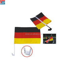 Custom printing 100%polyester Germany car flags