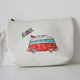 White Easy-carrying Travel Toiletry Collection Cosmetic Bag with Custom Logo Printing