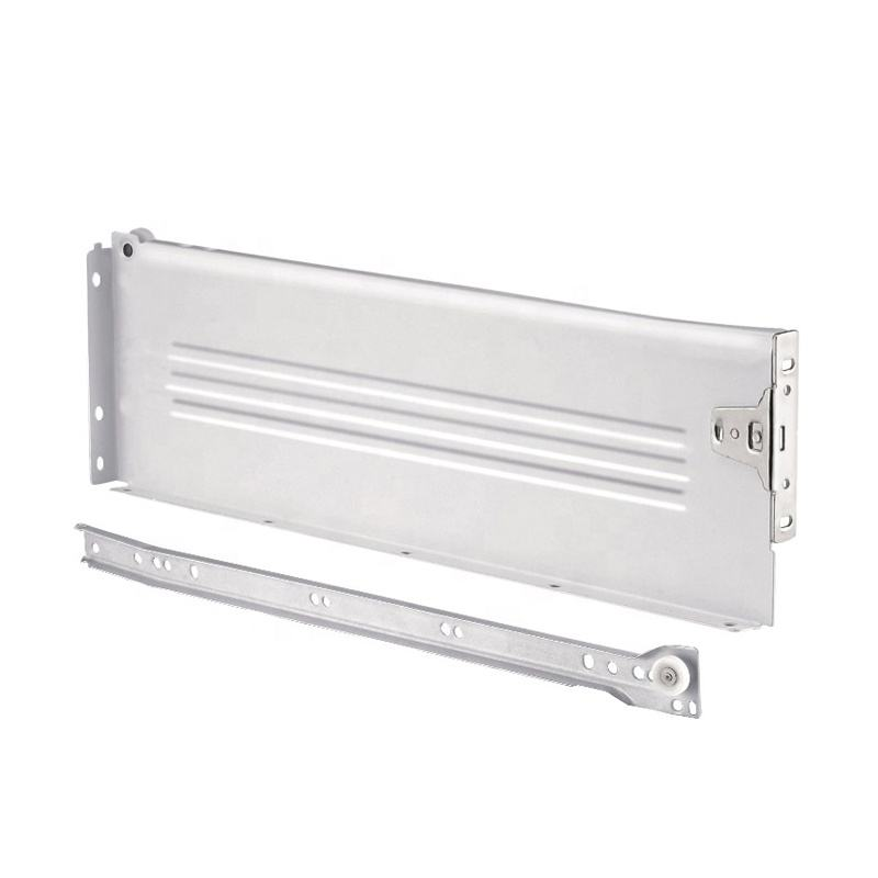Kitchen Hardware Fitting Metal Box Drawer Side Panel and Slide 118 mm