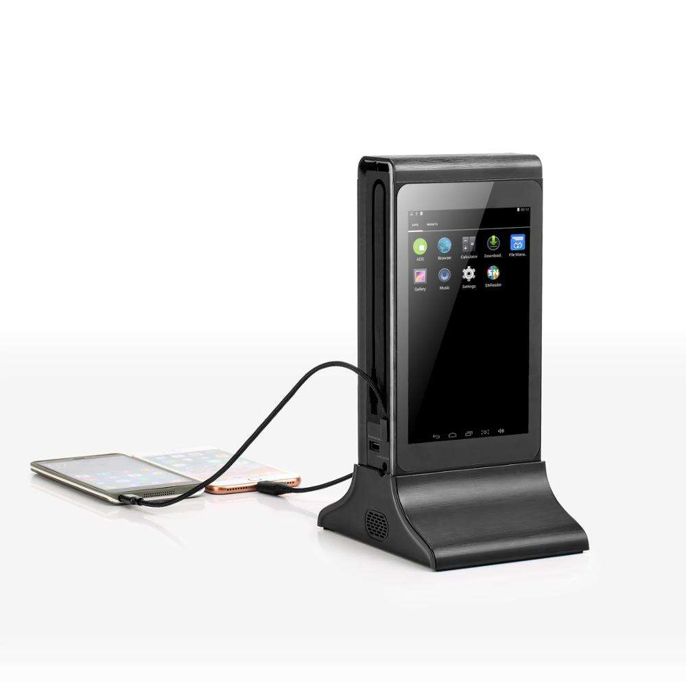 FYD 835E Table Stand Advertising Player Charging Station Display Different Contents on Both Sides