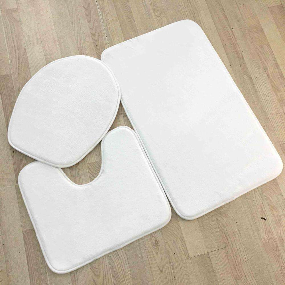 White Blank Memory Foam Dye Sublimation Bath Mats
