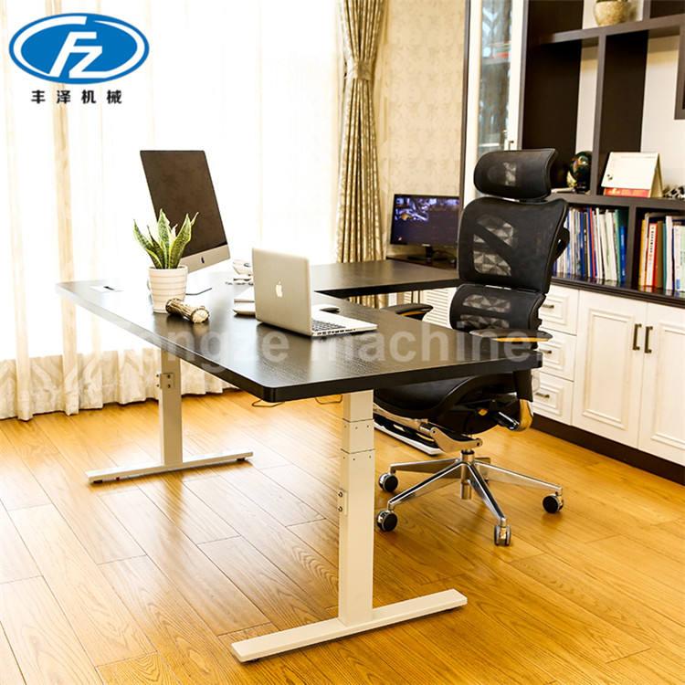 Moda creativa mueble de oficina sentarse y Stand Up eléctrico altura ajustable Escritorio de pie