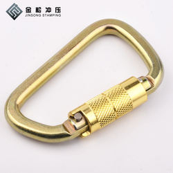 30KN D Shape steel snap carabiner hook clip for lock climbing, Auto Locking Carabiner,mountaineering carabiner