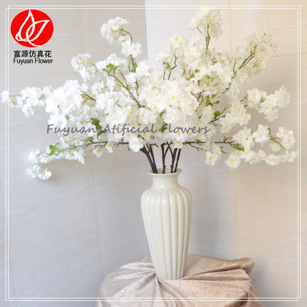 Artificial light pink cherry blossom with 94 heads flower for wedding decoration