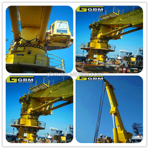 Hot sale 1.5t15m Used Small size Offshore Electric Hydraulic telescopic folding arm marine crane for sale ABS Certification
